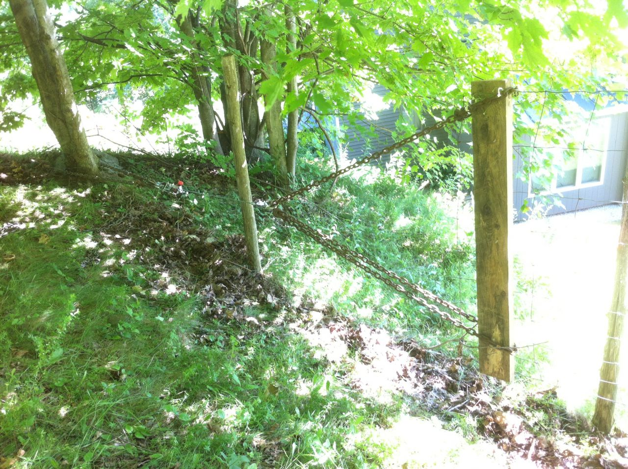 Stretching Woven Wire in the Sheep Fence - Cliff Dutton Carpentry