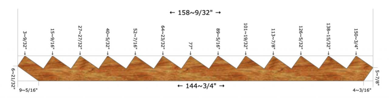 Stair layout diagram.